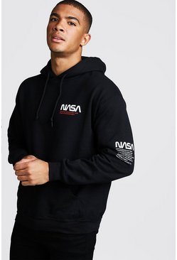 Black NASA License Hoodie