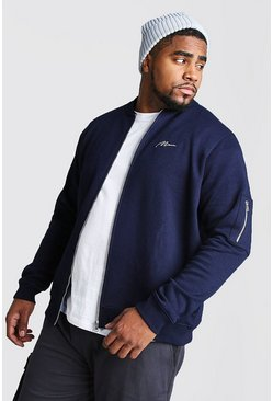 Bomber en jersey MAN MA1 big and tall, Marine