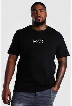T-shirt MAN Dash big and tall, Noir