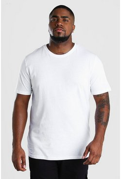 White Plus Size Basic T-Shirt