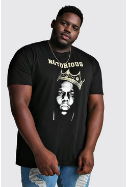 Camiseta con licencia The Notorious Biggie Plus, Negro
