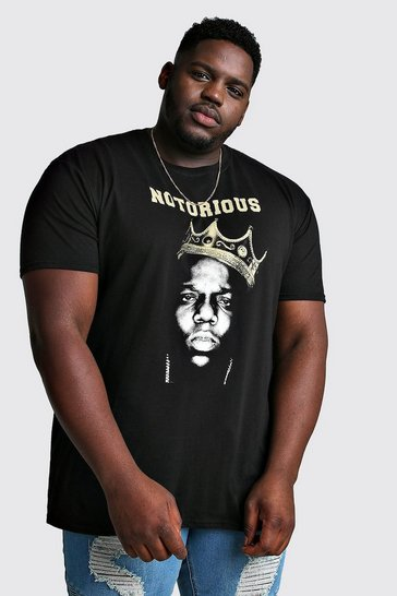 Black Plus Size Notorious Biggie License T-Shirt