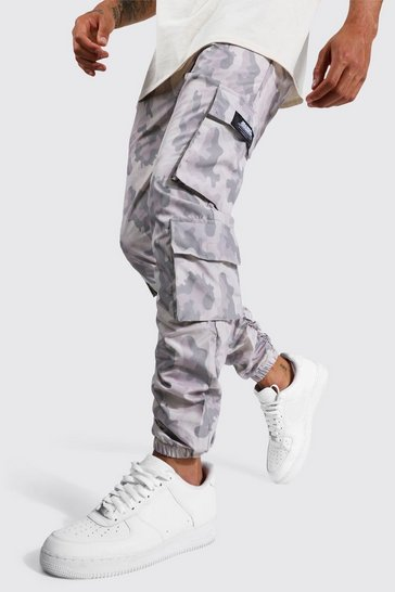 Stone beige Official Man Ripstop Ruched Cargo Trouser