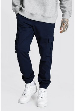 Navy Regular Fit Cargo Trouser
