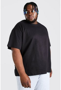 Black svart Big & Tall - Basic t-shirt med ledig passform