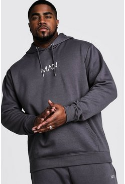 Charcoal grey Plus Size MAN Dash Hoodie