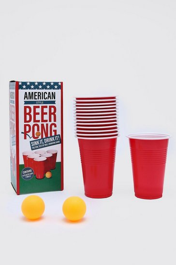 Red Beer Pong Game