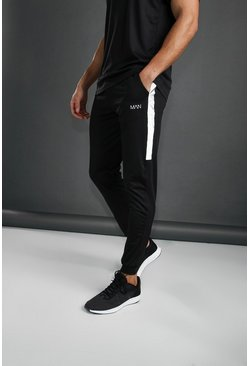 Black MAN Poly Skinny Jogger With Reflective Detail