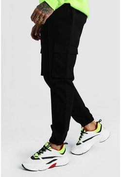 Black Utility Pocket Cargo Jogger Pants