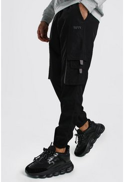 Original MAN Shell Cargo Jogger With Tabs, Black negro