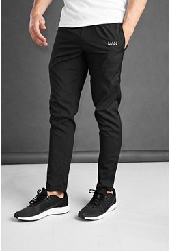 Black svart MAN Active Joggers i skinny fit