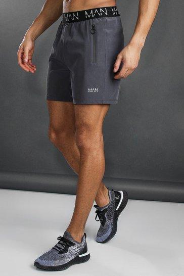 Charcoal grey MAN Active Waistband Shorts