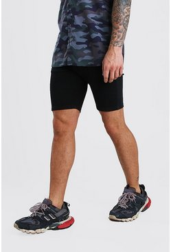 Stretch Skinny Denim Short, Black Чёрный