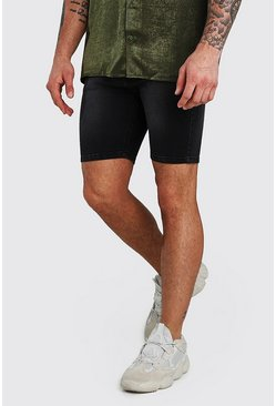 Charcoal grey Stretch Skinny Denim Short