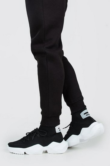 Black Heel Tab Chunky Sock Trainer