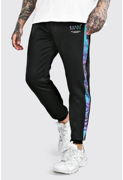 Black Original MAN Jogger With Rainbow Reflective Panel