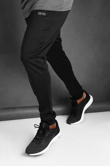 Black Big And Tall MAN Active Skinny Joggers