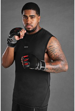 Black Plus Size MAN Active Tank