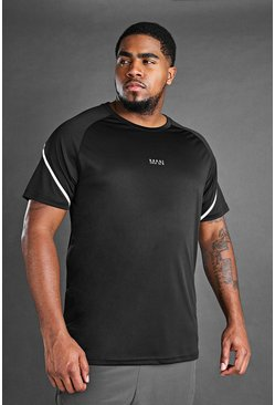 Black Big And Tall MAN Active T-Shirt