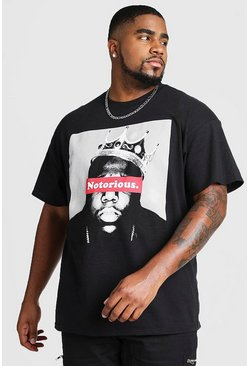 Black Plus Size Notorious BIG License T-Shirt