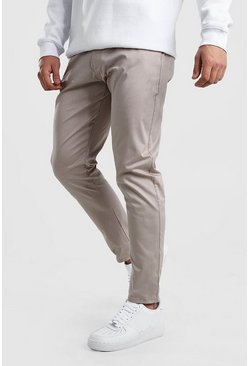 Stone beige Skinny Fit Chino Pants
