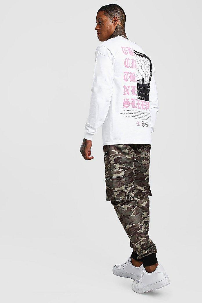 Camisa de manga larga con estampado de constelación | boohoo