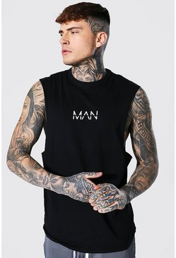 Black Original MAN Drop Armhole Tank