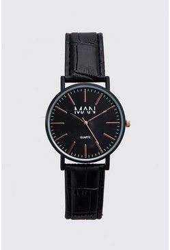 Black MAN Dash Classic Watch