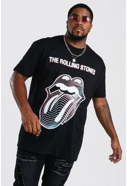Camiseta de los Rolling Stones Big And Tall, Negro