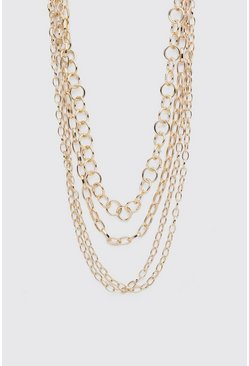 Gold Multi Layer Chain Necklace