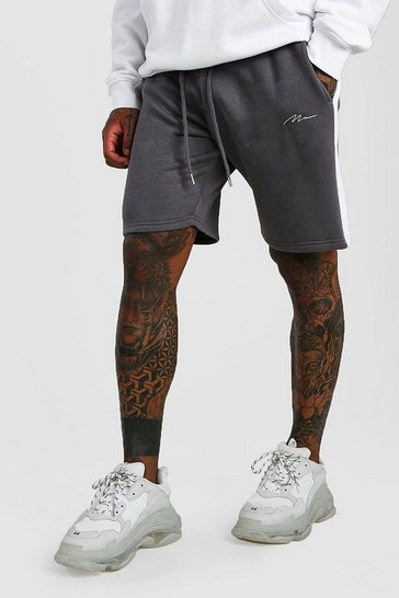 Charcoal MAN Signature Jersey Short with Side Panel