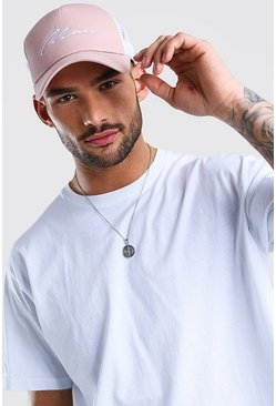 Mauve MAN Signature Mesh Back Trucker