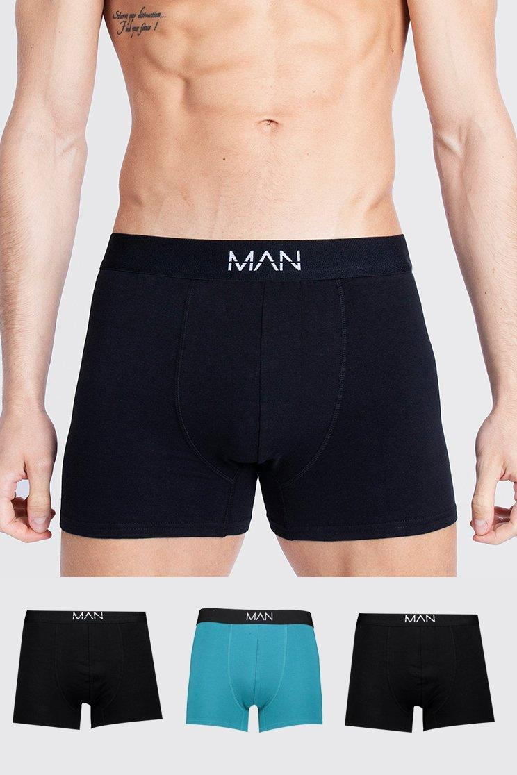 Men's Onesies & Loungewear 3 Pack MAN Dash Tonal Mixed Trunk