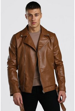 Tan brown Moto Jacket