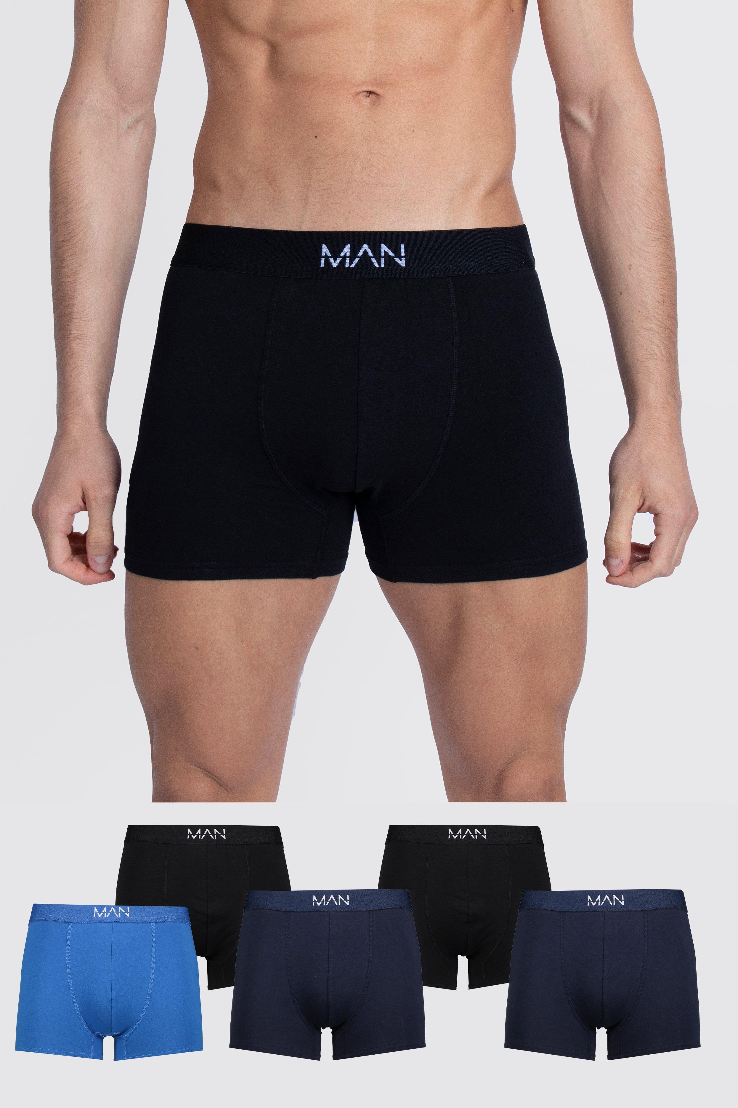 Men's Athleisure 5 Pack MAN Dash Tonal Mixed Trunk