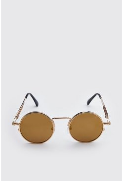 Brown Screw Edge Vintage Sunglasses