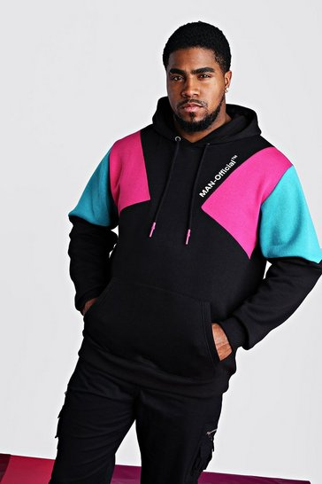 Black Plus Size Man Official Printed Hoodie