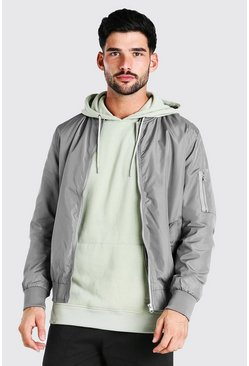 Charcoal grey MA1 Bomber Jacket