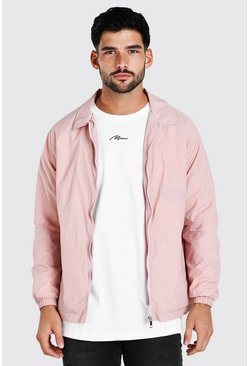 Veste harrington en coton, Rose