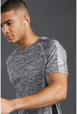 Grijs grey MAN Active raglan reflecterend sport-T-shirt