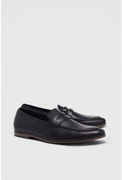 Black Loafers i konstläder