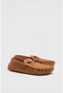 Tan Loafers i mockaimitation