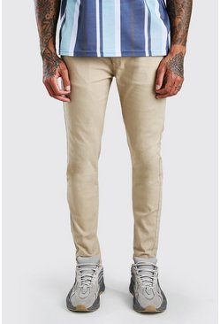 Stone beige Super Skinny Stretch Chino Trouser