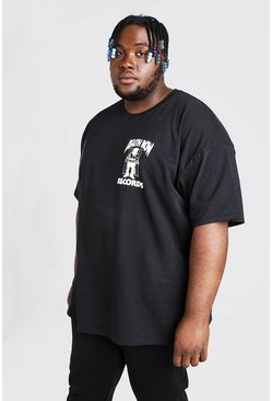 Camiseta Death Row Records Big And Tall, Negro