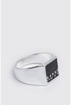 Silver MAN Dash Chunky Ring