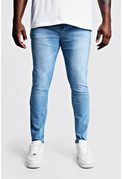 Pale blue blue Plus Size Skinny Fit Jeans