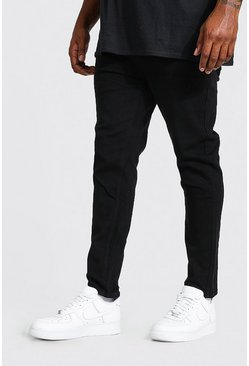 Black svart Big & Tall - Skinny jeans