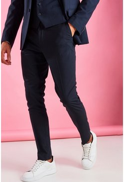 Navy Skinny Fit Pants