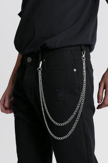Silver Double Layer Jeans Chain