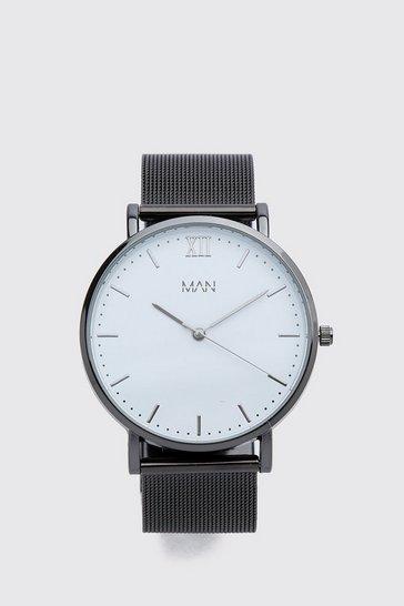 Black MAN Dash Mesh Strap Watch